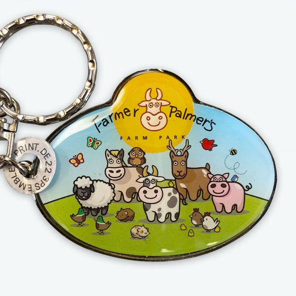 Farmer Palmers Metal Resin Keyring
